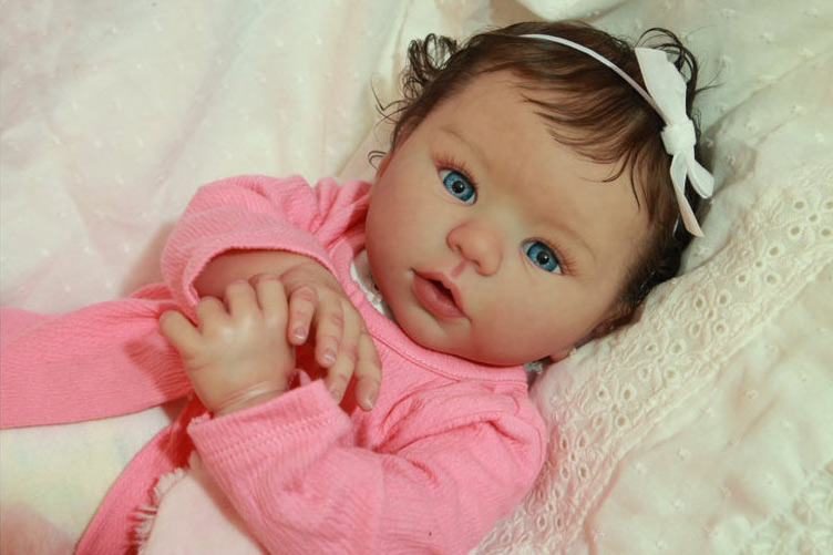 "19/"" Full Body Reborn Doll Kit Angel Girl"