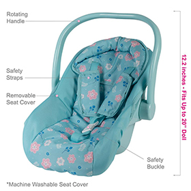 Adora Flower Power Baby Doll Car Seat